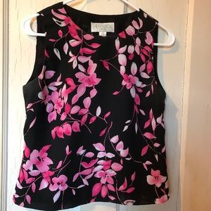 Casual Corner vintage summer blouse/ top